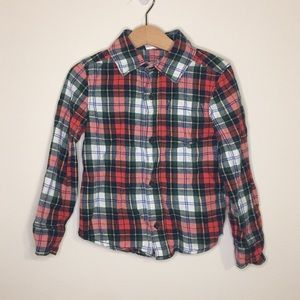 Carters 5T Plaid Flannel Button-up Shirt